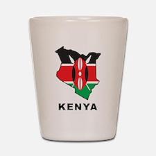 Map Of Kenya Shot Glass