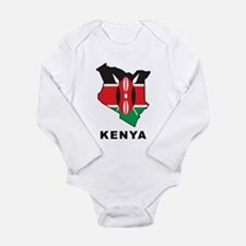 Map Of Kenya Long Sleeve Infant Bodysuit