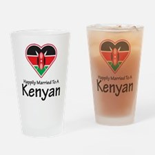 Happily Married Kenyan Pint Glass