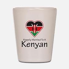 Happily Married Kenyan Shot Glass