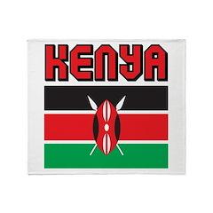 Kenya Flag Throw Blanket