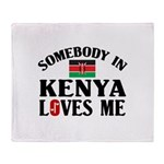 Somebody In Kenya Throw Blanket