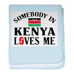 Somebody In Kenya baby blanket