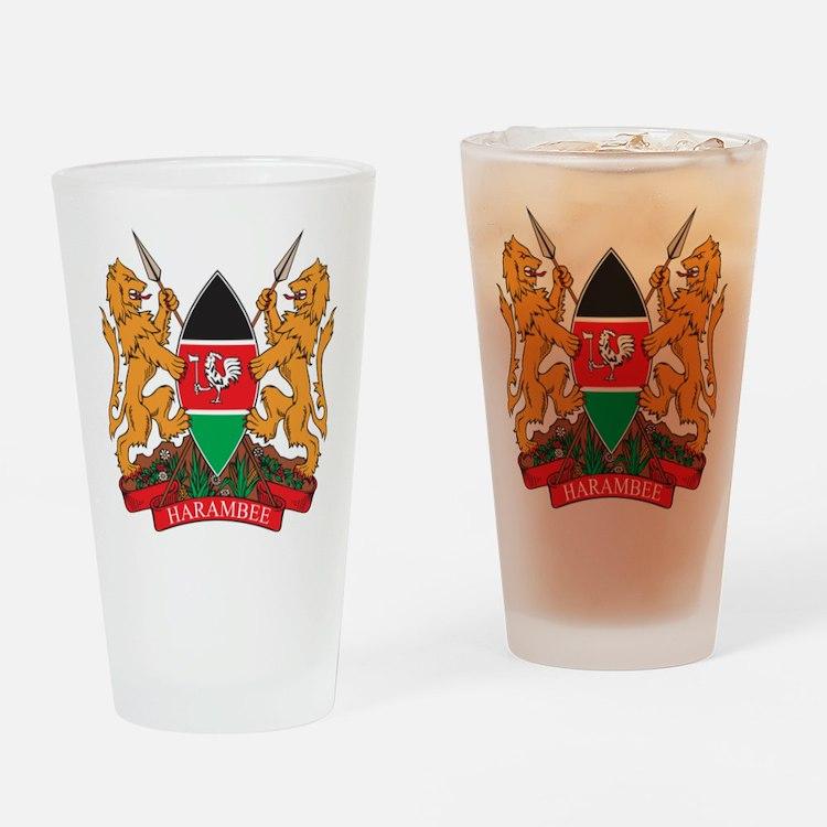 Kenya Coat of Arms Pint Glass