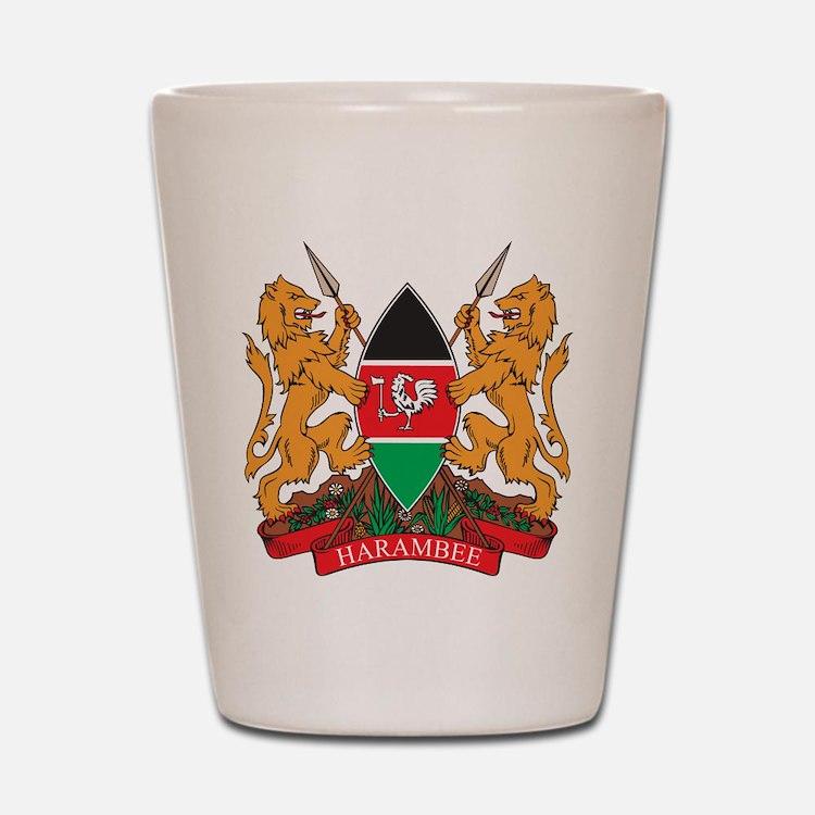 Kenya Coat of Arms Shot Glass