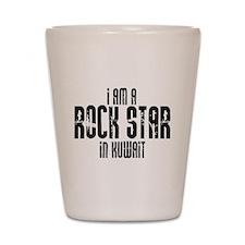 Rock Star In Kuwait Shot Glass
