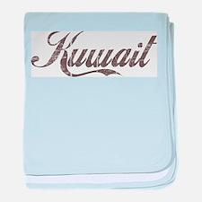 Vintage Kuwait baby blanket