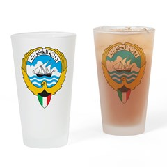 Kuwait Coat Of Arms Pint Glass