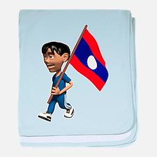 Cute 3D Laos baby blanket