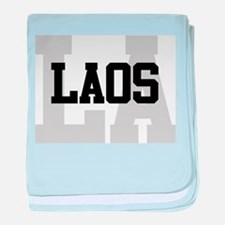 LA Laos baby blanket