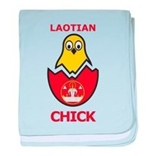 Laotian Chick baby blanket
