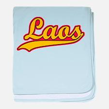 Retro Laos baby blanket