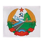 Laos Coat Of Arms Throw Blanket