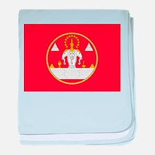 Laos Flag baby blanket