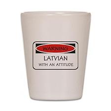 Attitude Latvian Shot Glass