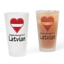 Happily Married Latvian Pint Glass