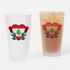 Heart Lebanon Pint Glass