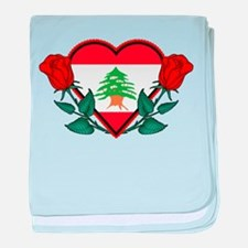 Heart Lebanon baby blanket