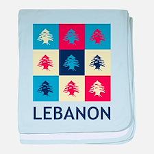 Pop Art Lebanon baby blanket