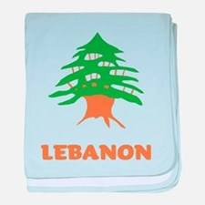 Lebanon baby blanket