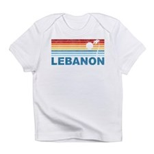 Retro Palm Tree Lebanon Infant T-Shirt