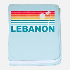 Retro Palm Tree Lebanon baby blanket