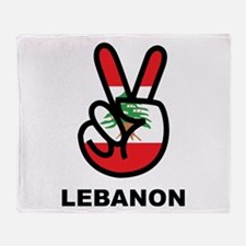 Peace In Lebanon Throw Blanket