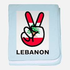 Peace In Lebanon baby blanket