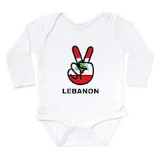 Peace In Lebanon Long Sleeve Infant Bodysuit