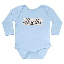 Vintage Lesotho Long Sleeve Infant Bodysuit