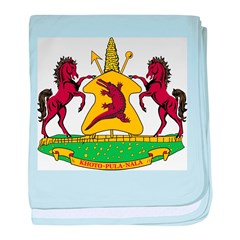 Lesotho Coat Of Arms baby blanket
