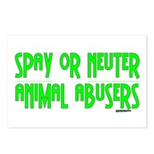 Spay or Neuter Animal Abusers Postcards (Package o
