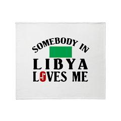 Somebody In Libya Throw Blanket