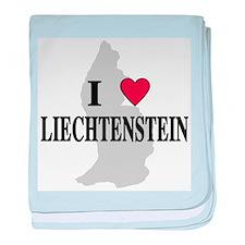 I Love Liechtenstein baby blanket