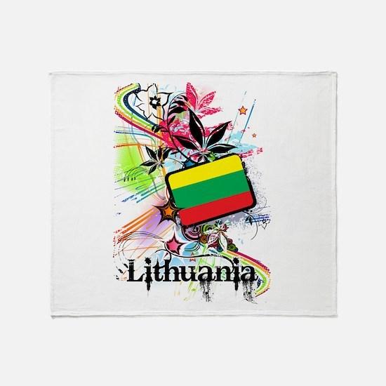 Lithuania Throw Blanket
