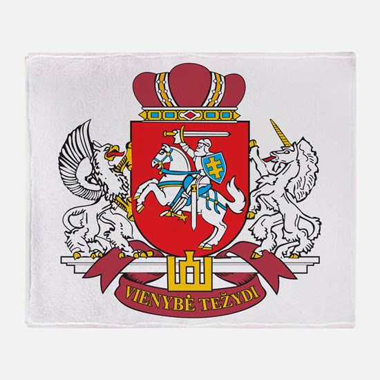 Lithuania Coat Of Arms Throw Blanket