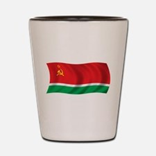 Wavy Lithuanian SSR Flag Shot Glass
