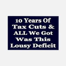 Tax Cuts Equal More Deficit Rectangle Magnet