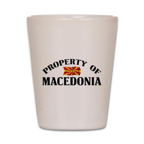 Property Of Macedonia Shot Glass