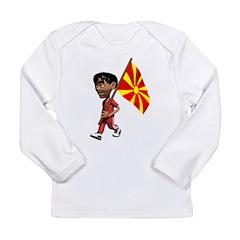 3D Macedonia Long Sleeve Infant T-Shirt