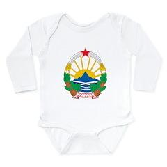 Macedonia Coat Of Arms Long Sleeve Infant Bodysuit