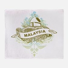 Mosque Malaysia Throw Blanket