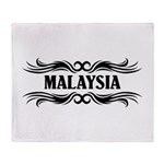 Tribal Malaysia Throw Blanket