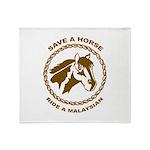 Ride A Malaysian Throw Blanket