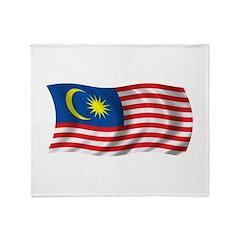 Wavy Malaysia Flag Throw Blanket