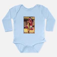 Vintage Madagascar Art Long Sleeve Infant Bodysuit