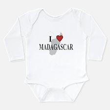 I Love Madagascar Long Sleeve Infant Bodysuit