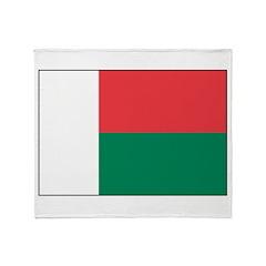 Madagascar Flag Throw Blanket