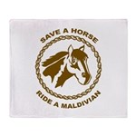 Ride A Maldivian Throw Blanket