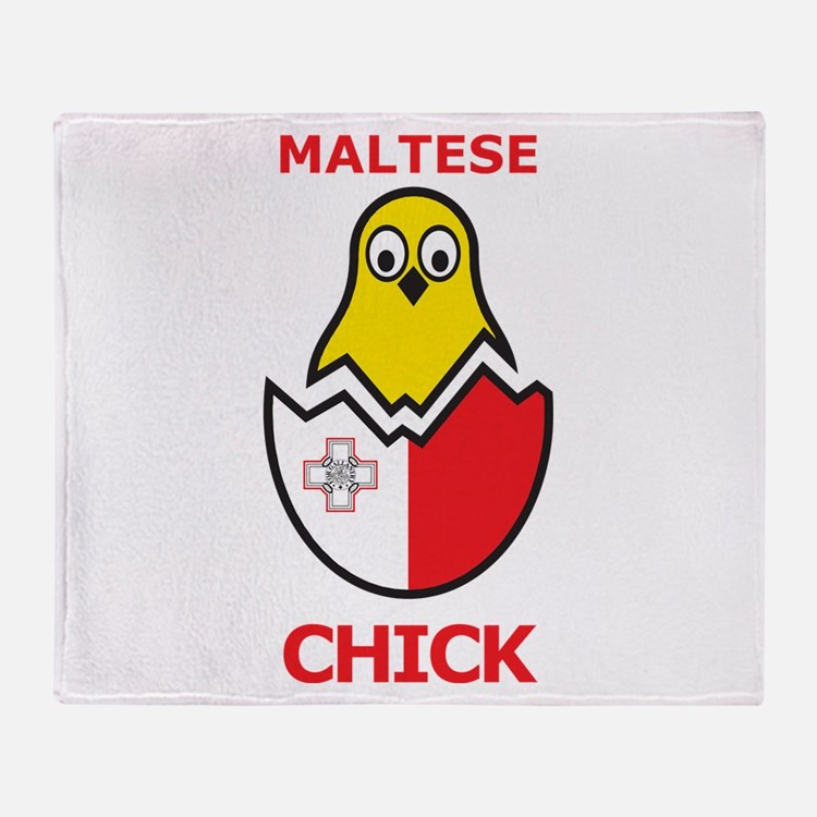 Maltese Chick Throw Blanket